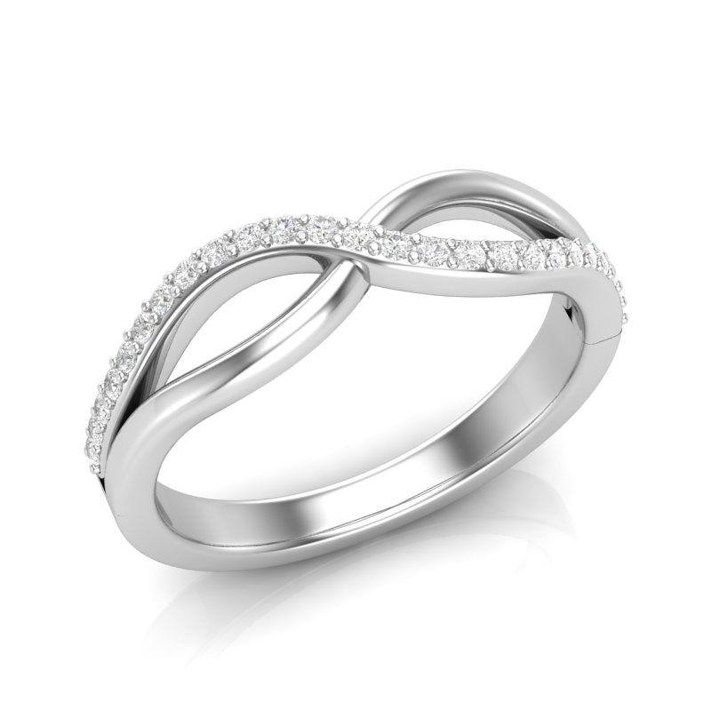 Half Diamond Twisted Wedding Band 14k White Gold Half Diamond Wedding Band Halo Engagement Ring Wedding Band Wedding Ring Bands