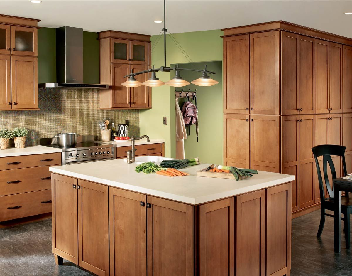kitchen colors maple cabinets waypoint living spaces style shown in 630 maple mocha 21540