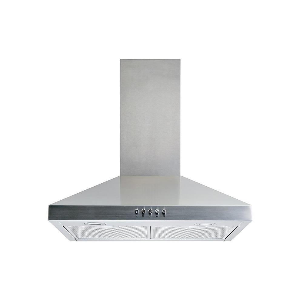 Winflo 30 in. Convertible Wall Mount Range Hood in Stainless Steel (Silver) with Aluminum Mesh Filters LED lights, Push Button Control