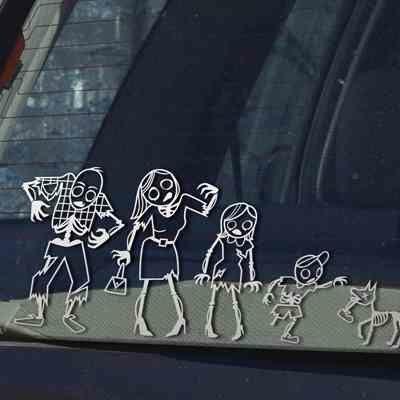 Zombie Family Car Stickers Okay Im Sick Of The Zombie Thing - Family car sticker decalsfamily stickers family car stickers