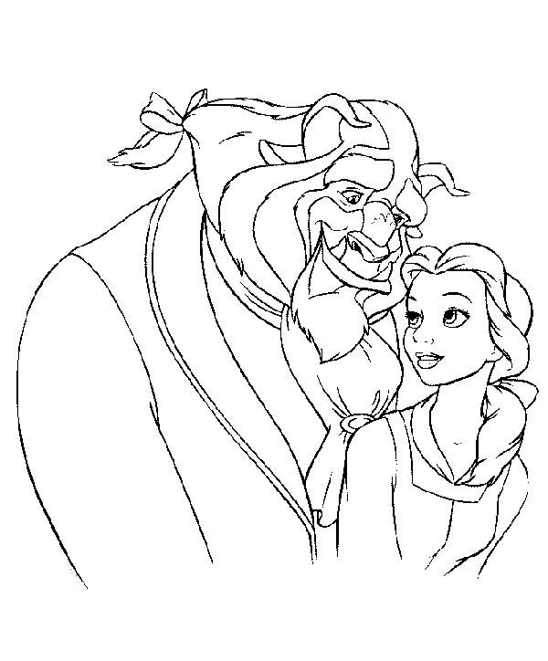Belle And The Beast Colouring Pages Beauty And Beast Cartoon