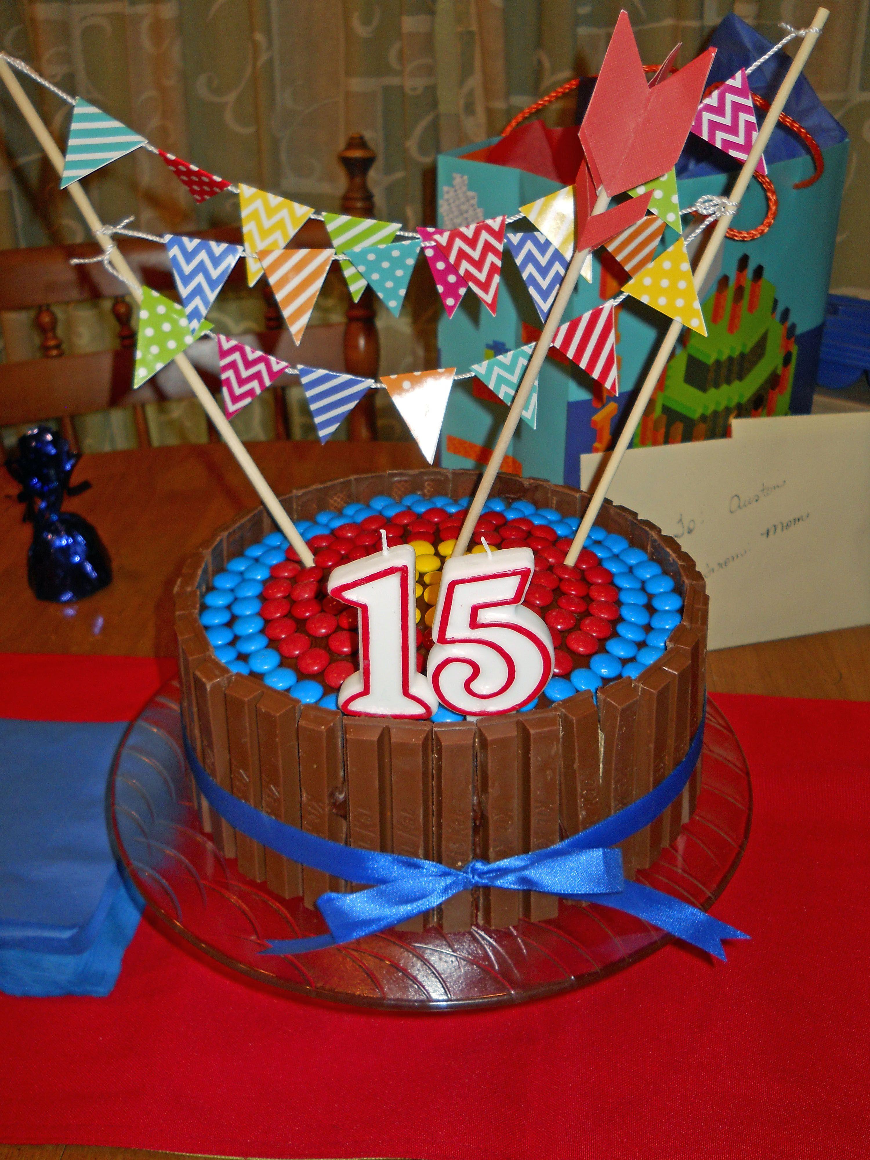 Archery kitkat cake with images kit kat cake cake