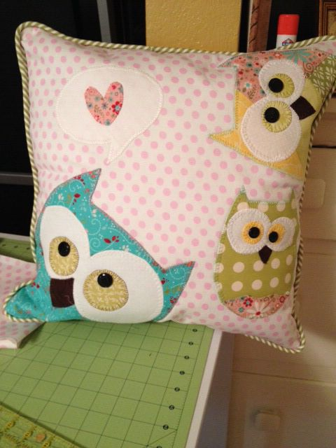 For Abby...My version of the pillow project! So fun to make. by Wendy Tunison Pattern found on Etsy!