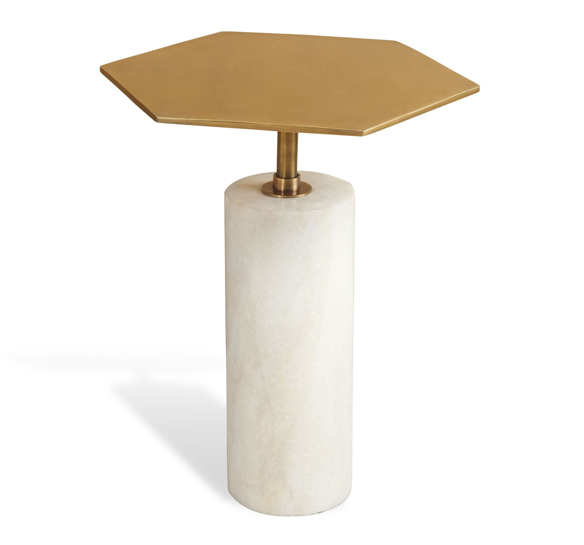 High Quality $675 Beck Stone Side Table In Antique Brass Design By Interlude Home