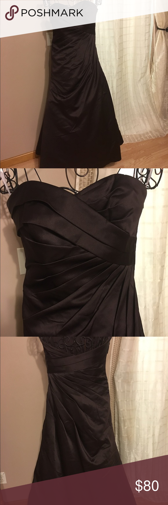Andrew Adela brown gown. Beautiful Andrew Adela gown size ...