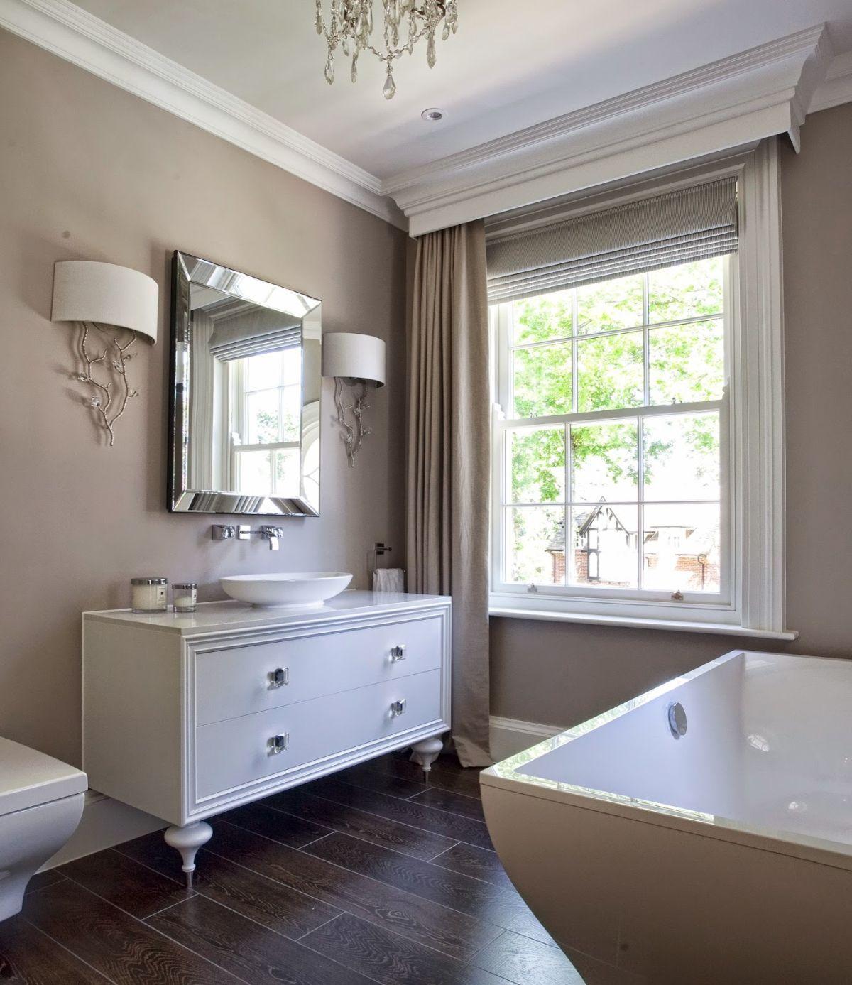 Badezimmer dekor rund um die wanne erstellen sie eine stilvolle taupe badezimmer dekor in