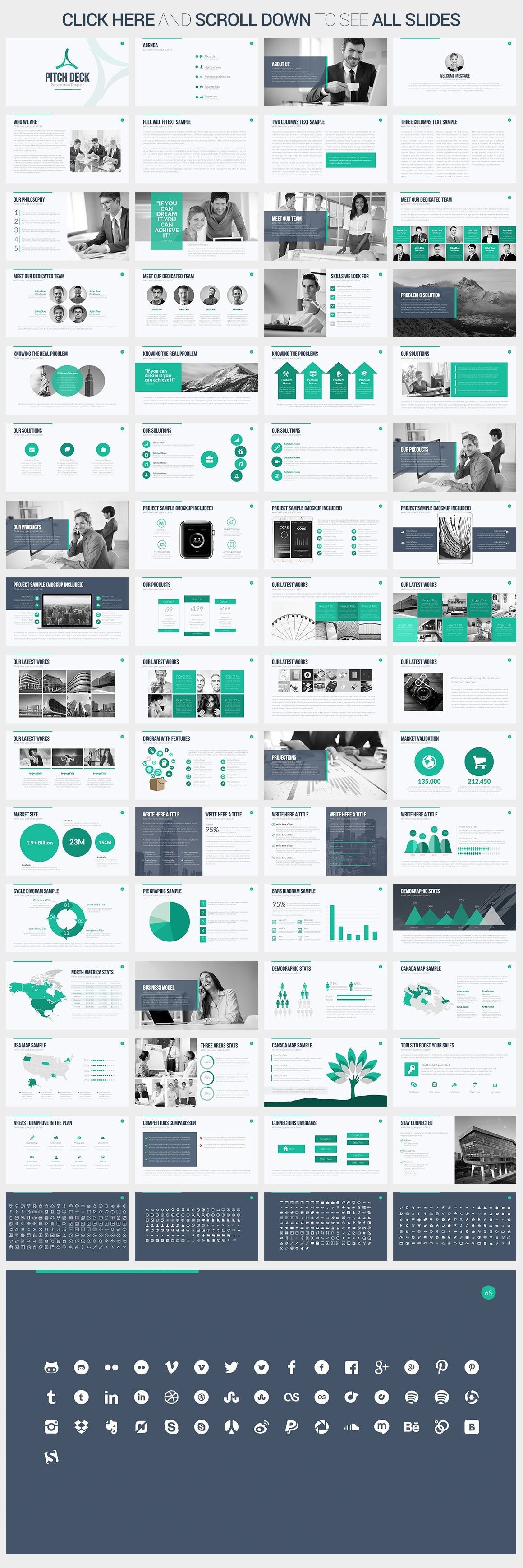 Pitch Deck PowerPoint Template by SlidePro on Creative