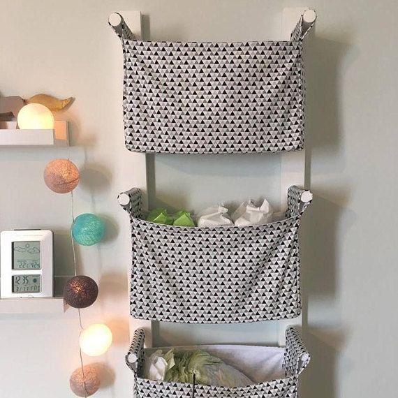 Wall Hanging Storage Baskets nursery hanging storage bins - kids room storage nursery bins