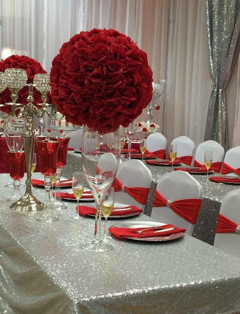 Diamonds & Roses Quinceañera Party Ideas in 2019 | Nayaril ...  Diamonds & Rose...