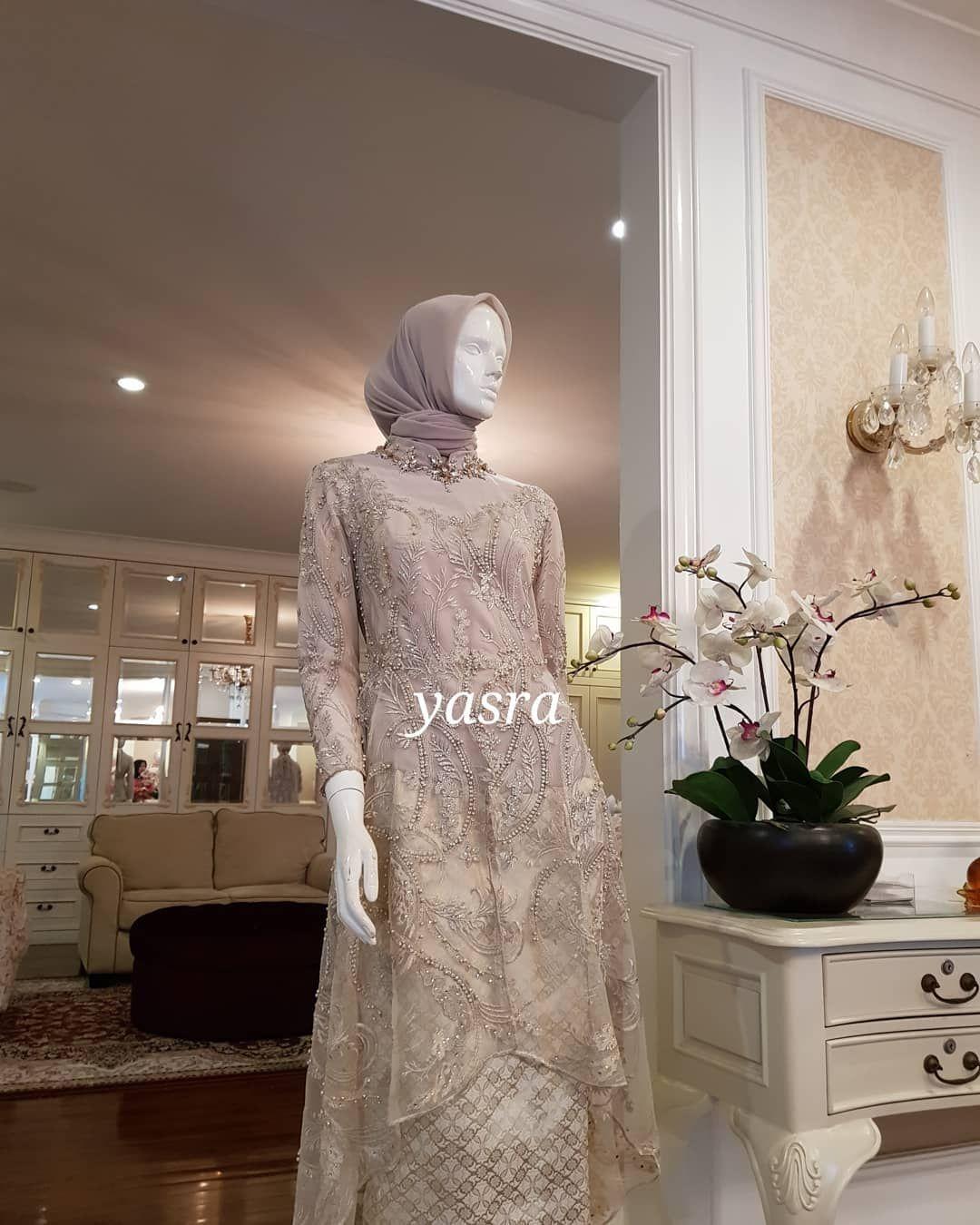 YASRA #yasra #moslemwedding #moslemgown #❤❤❤  Kebaya dress