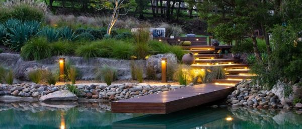 Captivating Holz Kies Pool Modern Garten Gestalten Ideas