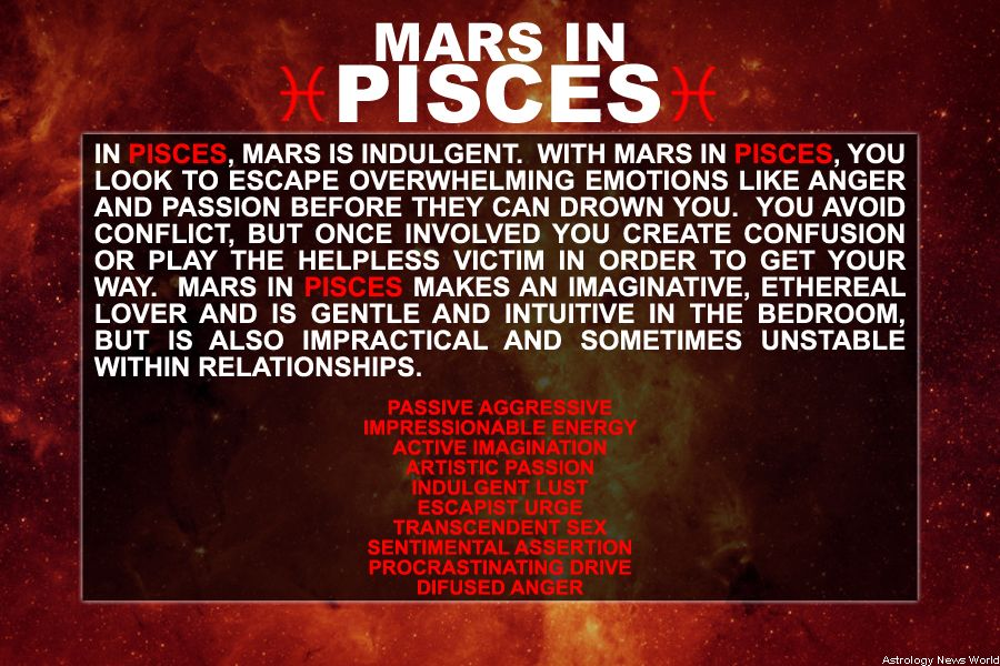 Mars in PISCES AstroConnects | Astrology~MARS in the Signs | Mars in