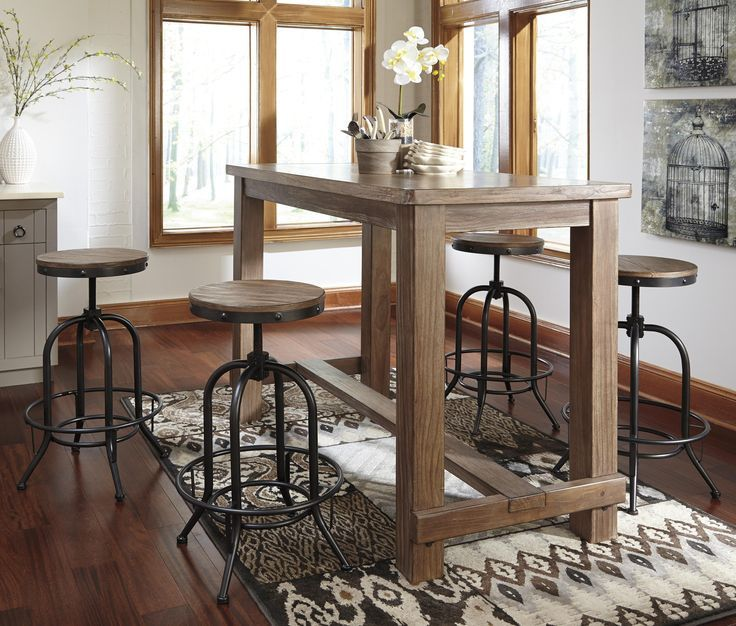 The Pinnadel Dining Room Bar Table From Ashley Furniture Homestore Adorable Dining Room Sets Ashley Furniture Design Decoration