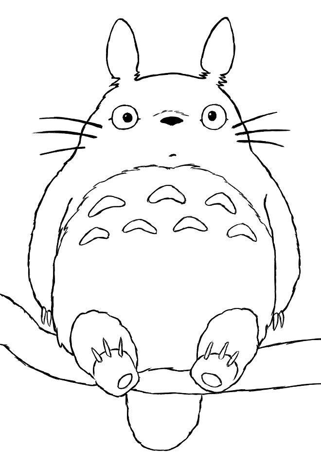 Totoro Coloring Page Toys Technology And Geekery Pinterest - Totoro-coloring-pages