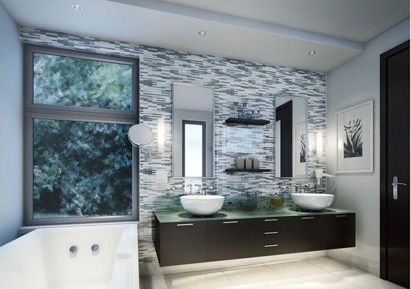 Fliesen weiß grau klassisch elegant Badezimmer Ideen Pinterest