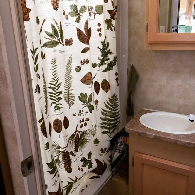 Fern Leaf Pine Cone Shower Curtain