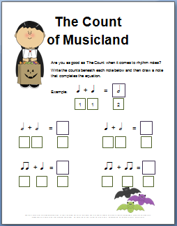 fun halloween music theory worksheets click here for more than 20