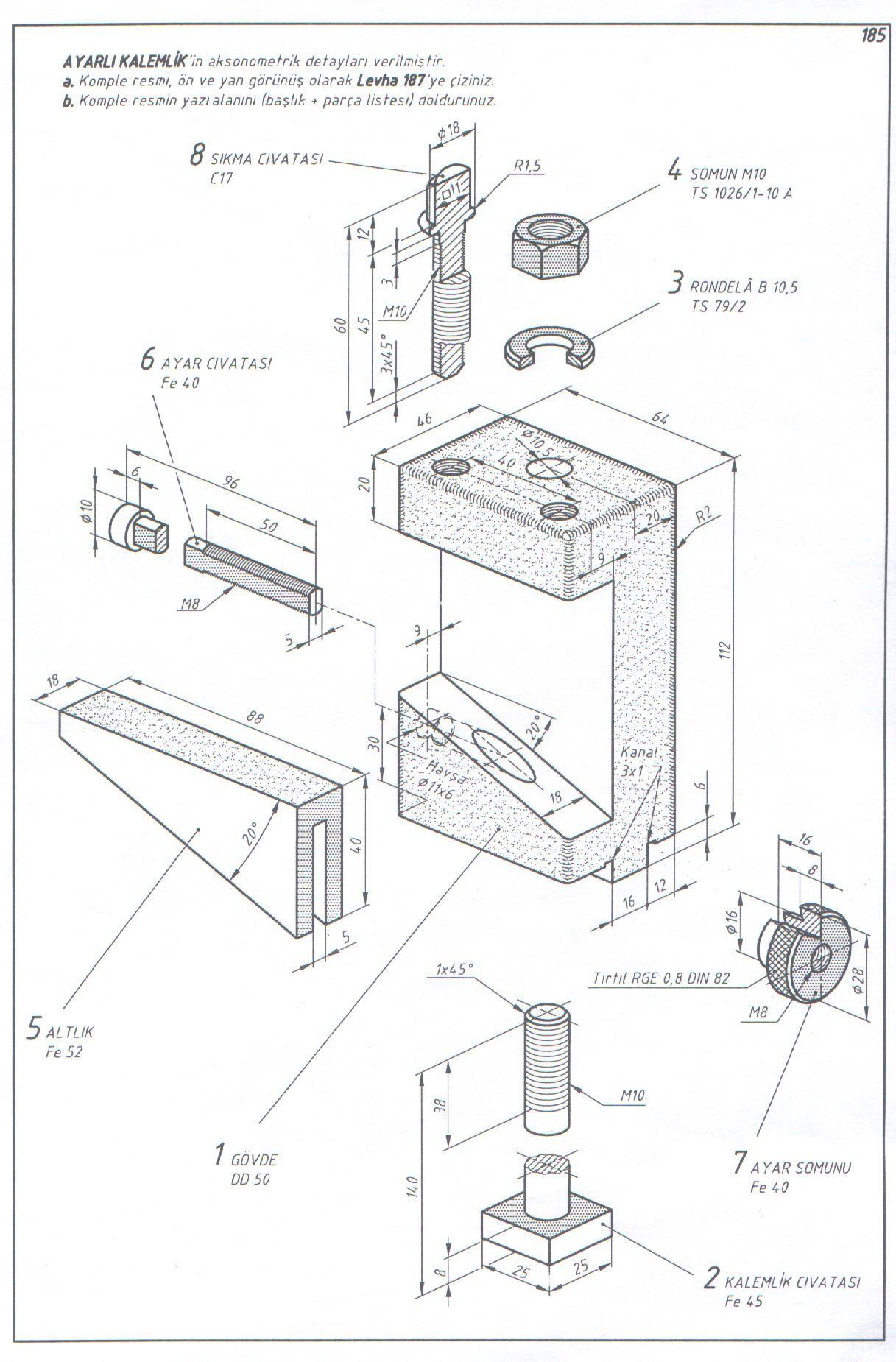 Pin De Pablo Alejandro En My Drawings Planos Mecanicos Dibujo Mecanico Dibujo Tecnico Ejercicios