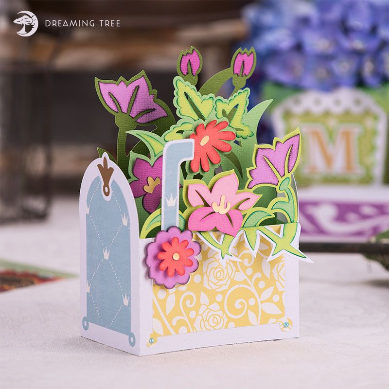 Mailbox Bouquet Box Card Svg Dreaming Tree Bouquet Box Card Box Pop Up Box Cards