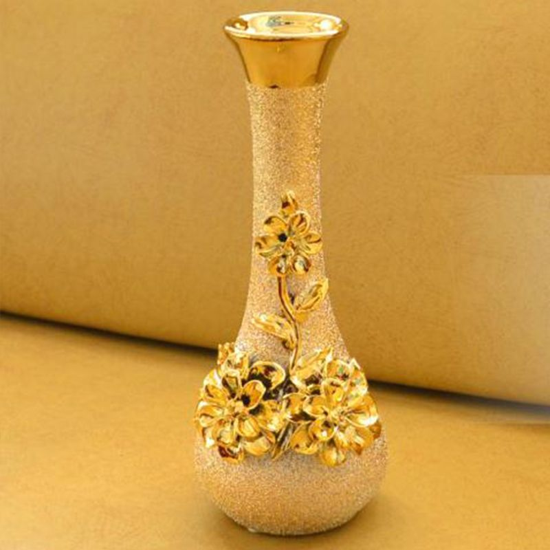 Fashion ceramic gold vase home living room decoration accessories fashion ceramic gold vase home living room decoration accessories luxury small decoration wedding gifts junglespirit Image collections