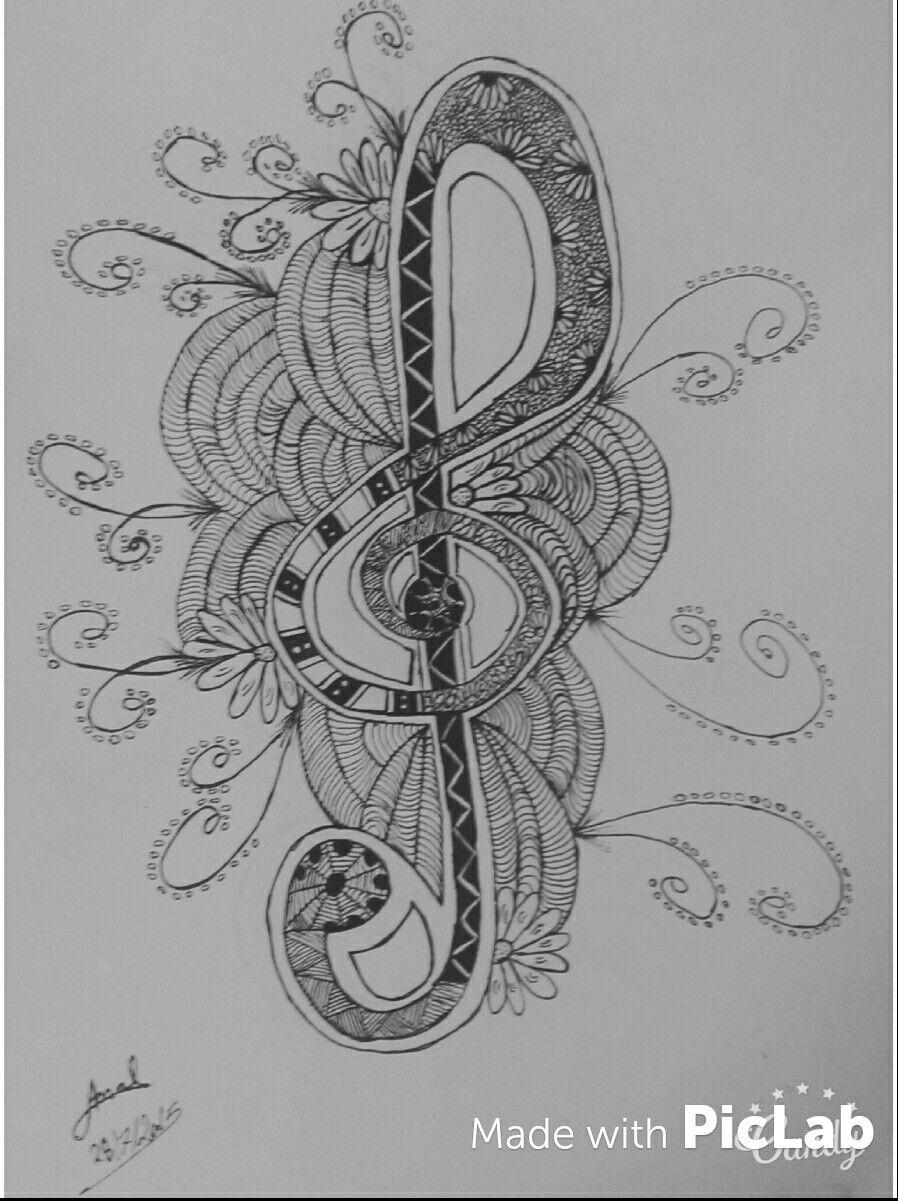 مفتاح صول مزيكا Symbols Peace Symbol Doodles