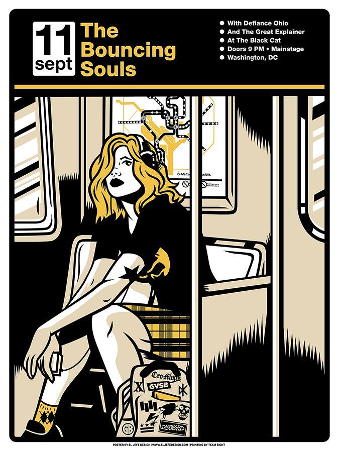 Bouncing Souls Three Color Screen Printed Poster