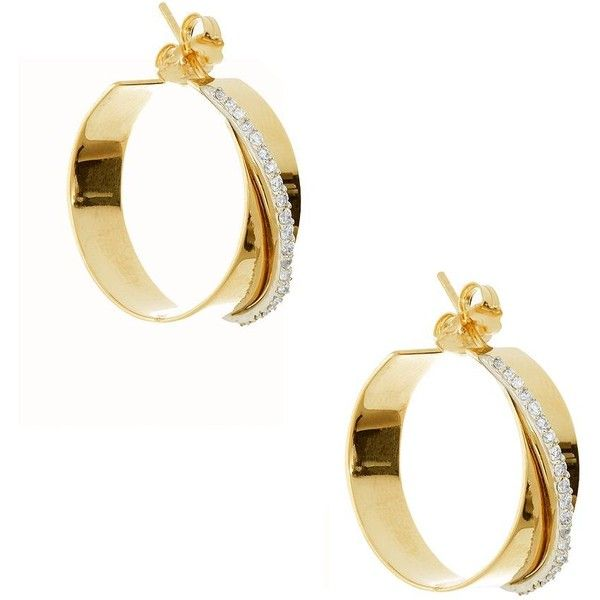 Lana Jewelry 14K Small Expose Hoop Earrings with Diamonds 9dDEfJYPWq