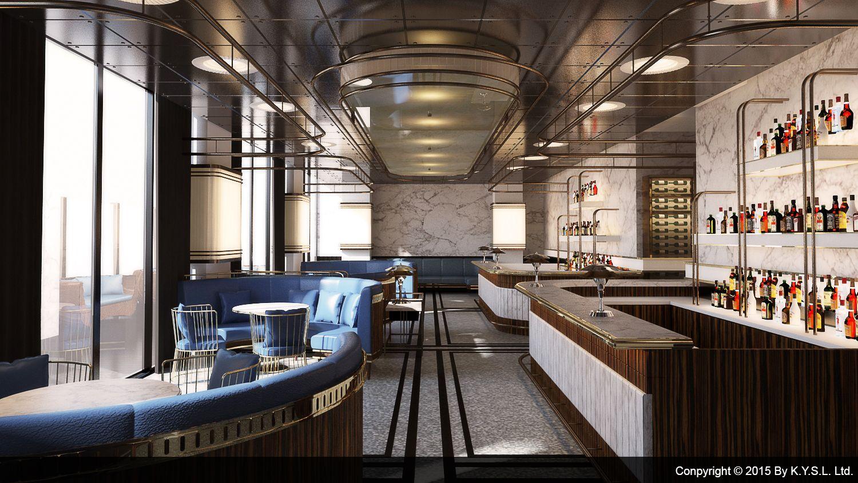 Fine dining restaurant & bar designed by K.Y.S.L. Ltd. Art deco ...