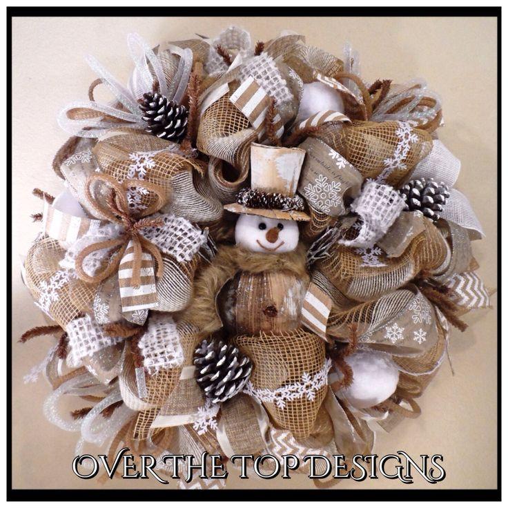 1000+ ideas about Burlap Christmas Wreaths on Pinterest | Burlap ...