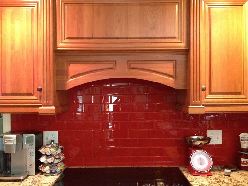 Red Tile Kitchen Backsplash Subway Tiles For Kitchen Backsplash