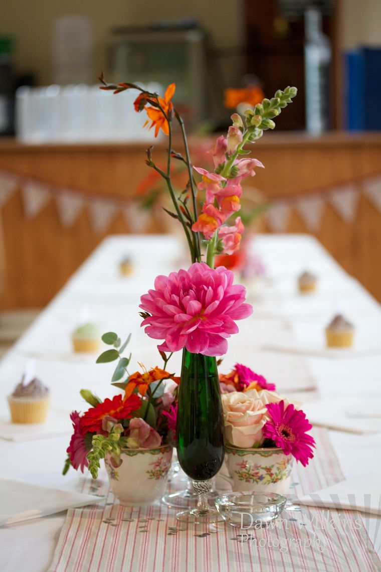Wedding decoration ideas for village hall  village hall wedding photography by Dawn McKie styling by Little