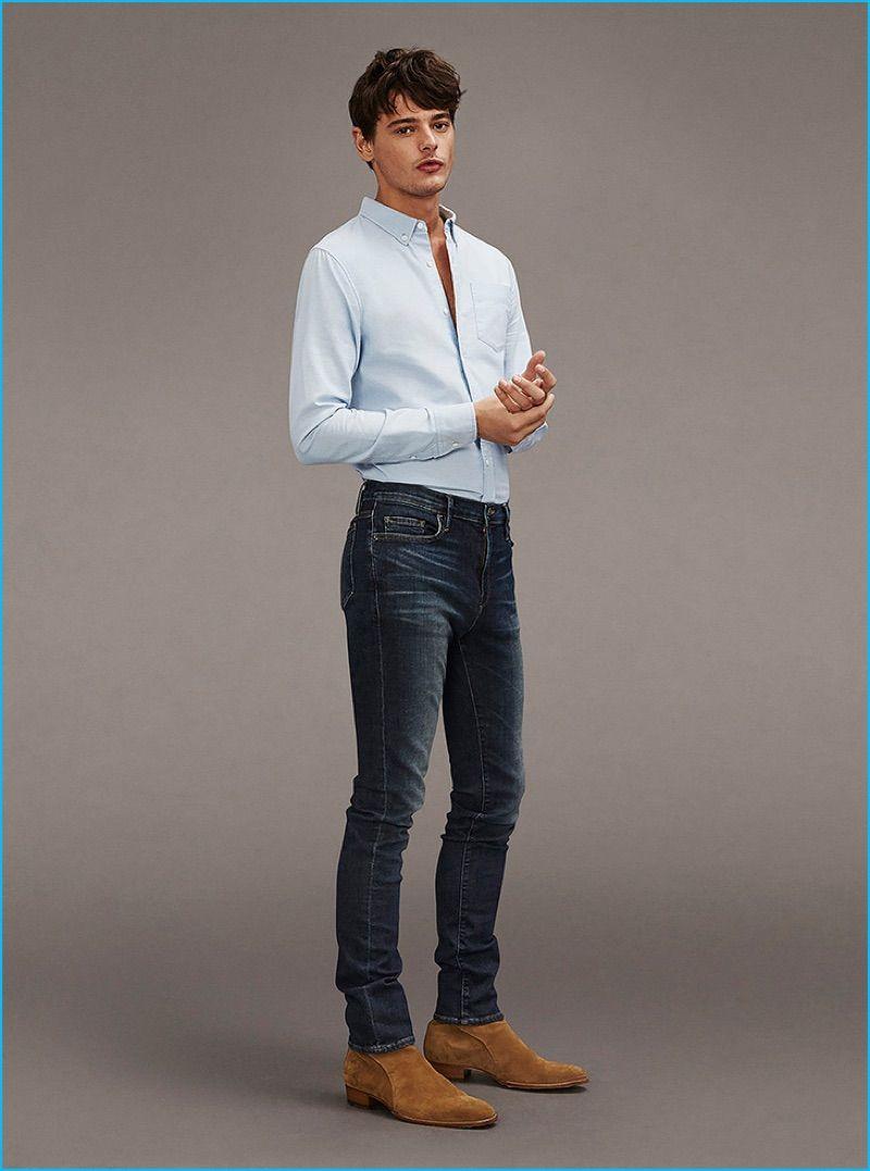 jacob morton goes casual with frame denim  mens clothing