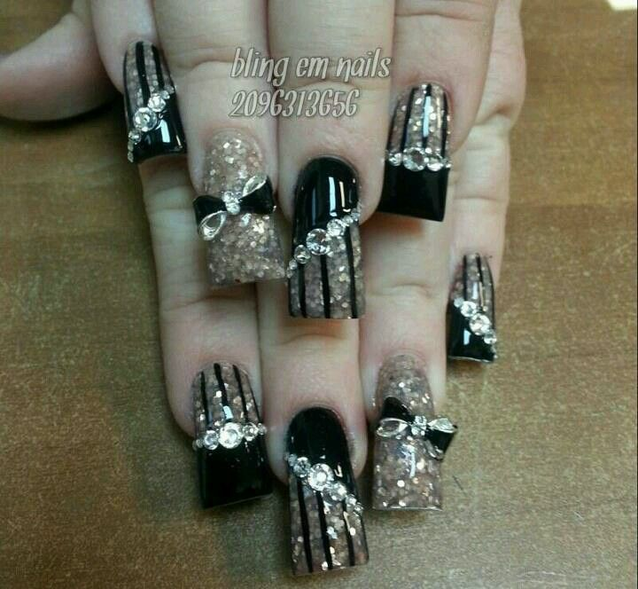 My new Bling nails