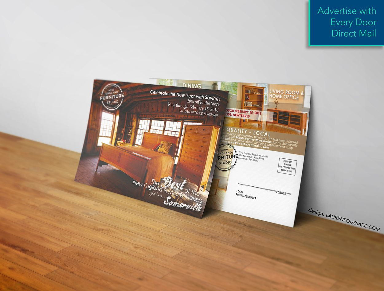 Discover the benefits of Every Door Direct Mail from USPS. Design @laurenpoussard