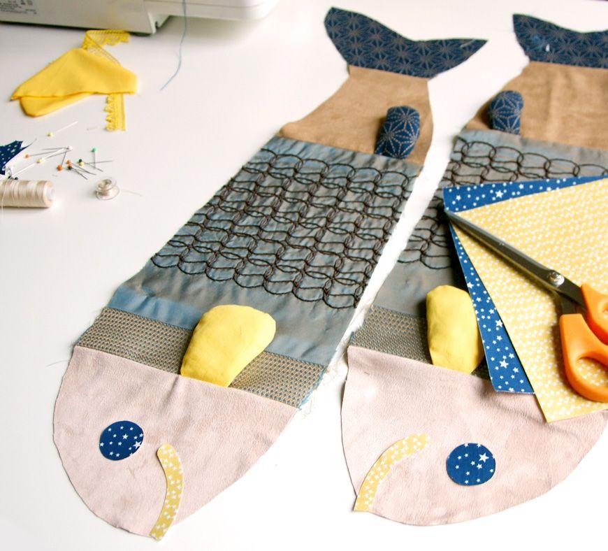 couture comment r aliser un doudou en forme de poisson avec un patchwork de tissus coudre les. Black Bedroom Furniture Sets. Home Design Ideas