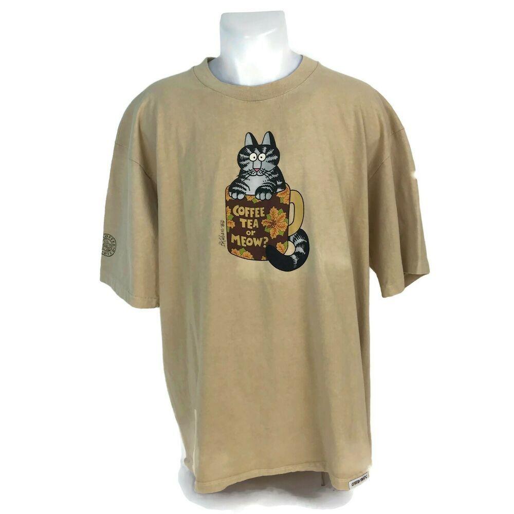 c03bc6dd Vintage Crazy Shirts Hawaii Kona Coffee Dyed Kliban Coffee Cat T-Shirt Size  XL #CRAZYSHIRTSHAWAII #GraphicTeeScreenPrintedinHawaii