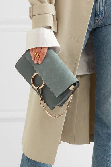0f0ecc6a Chloé - Faye small leather and suede shoulder bag | Products | Chloe ...