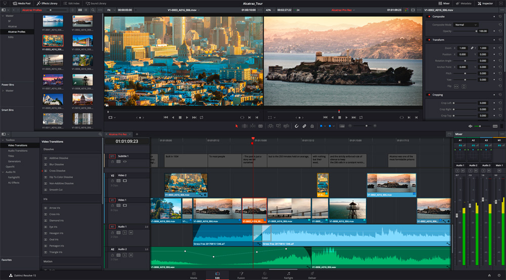 Davinci Resolve 16 Edit Blackmagic Design Free Video Editing Software Video Editing Software Greenscreen