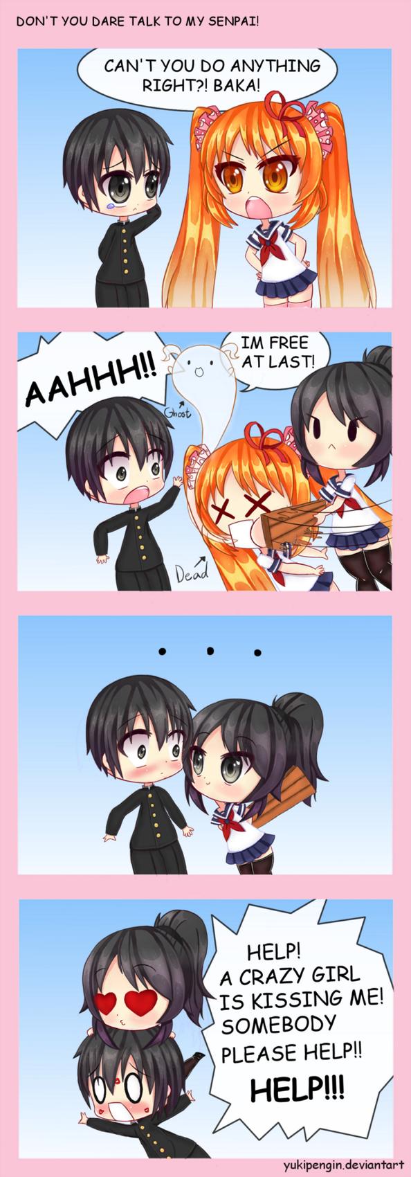 DON'T YOU DARE TALK TO MY SENPAI! by Yukipengin Yandere