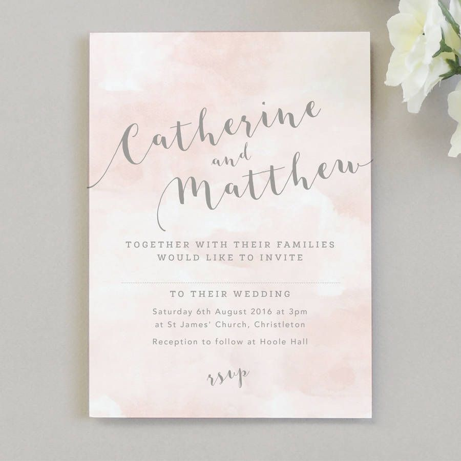 Romance Watercolour Wedding Invitations | Pinterest | Blush weddings ...
