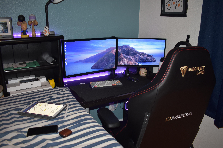 My Small Setup For Gaming School Setup Architect Office Interior Led Lighting Bedroom