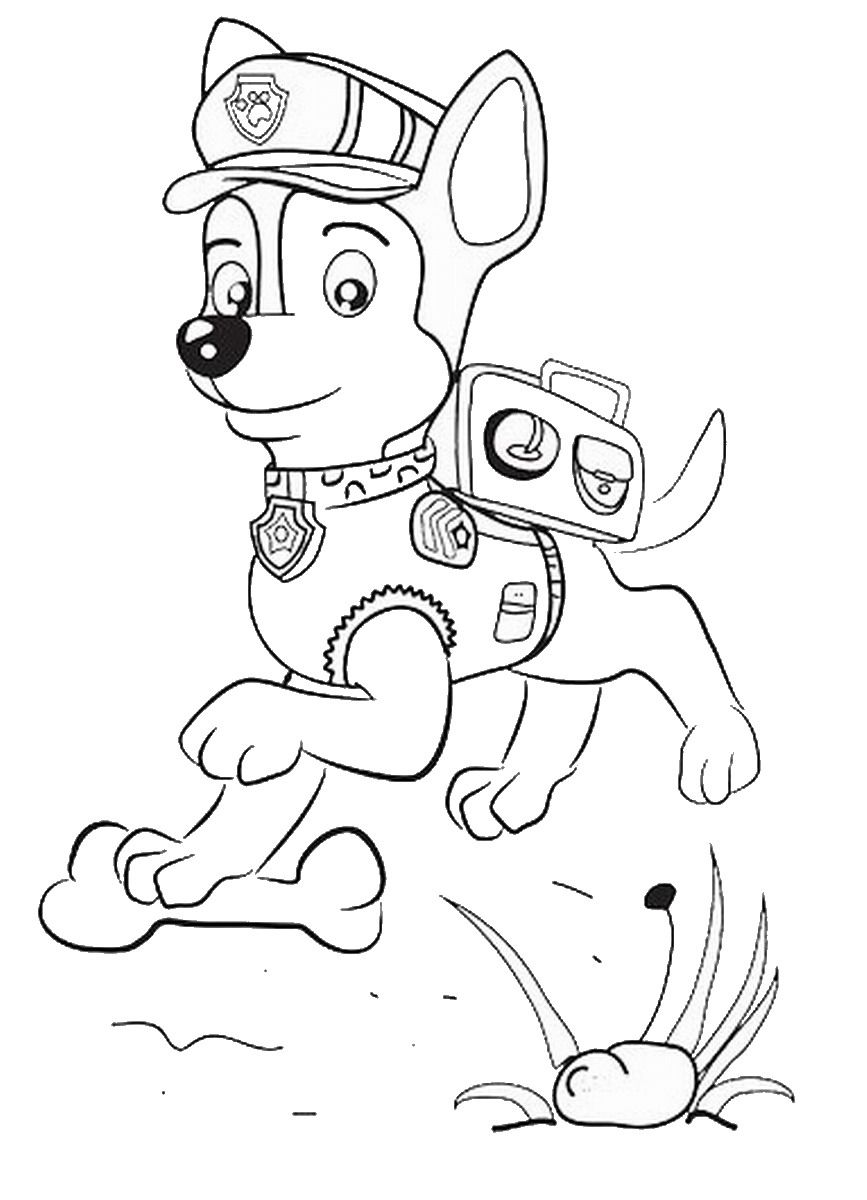Paw patrol coloring pages happy birthday - Paw Patrol Everest Colourings Bing Images