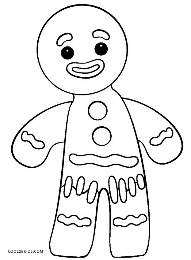 Shrek Gingerbread Man Coloring Page 623x850