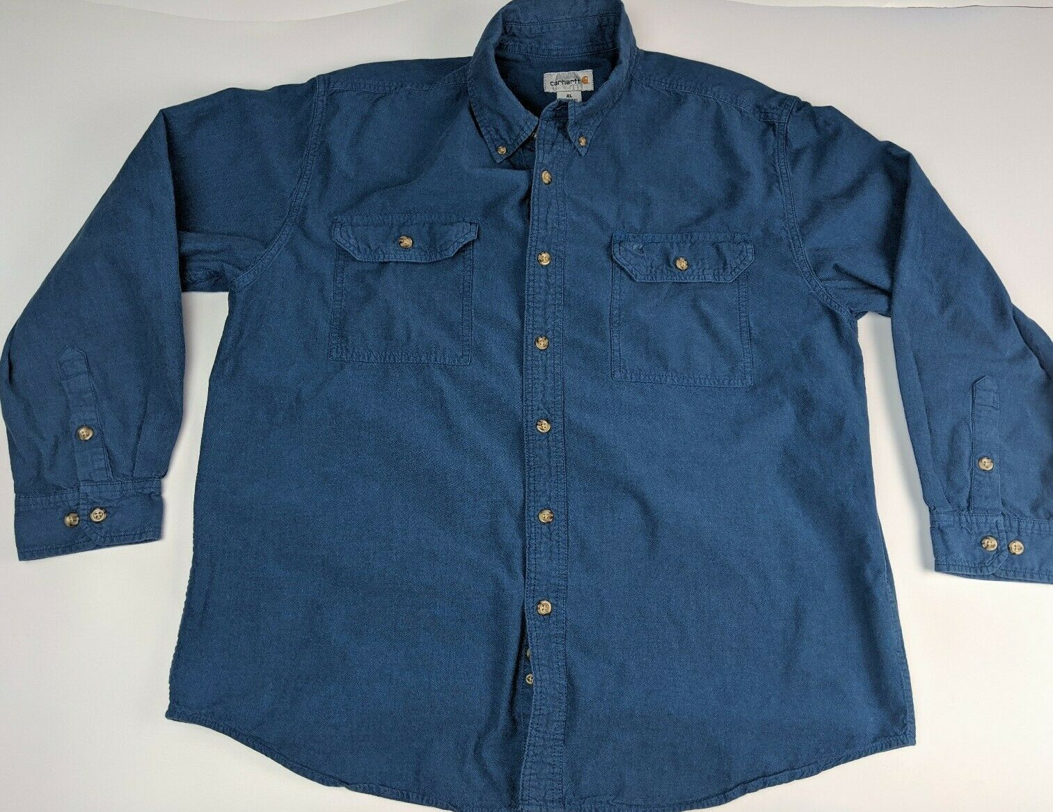 Carhartt Shirt Size Xl 100 Cotton Blue Button Down Long Sleeve Outdoor Men S In 2020 Carhartt Shirts Carhartt T Shirt Carhartt