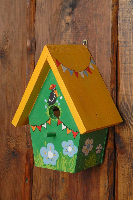 Nichoir artisanal de bois naturel fait main pour oiseaux maison clatante idees noel casas - Desodorisant naturel pour maison ...