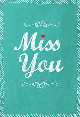 Xxx miss you greeting cards printable