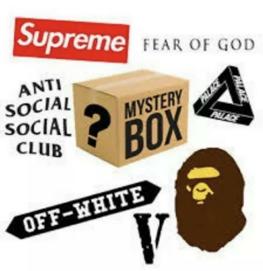 Mystery Hypebeast Box Supreme And More From Stockx Fashion Clothing Shoes Accessories Mensclothing Ot Bape Hypebeast Mystery Box