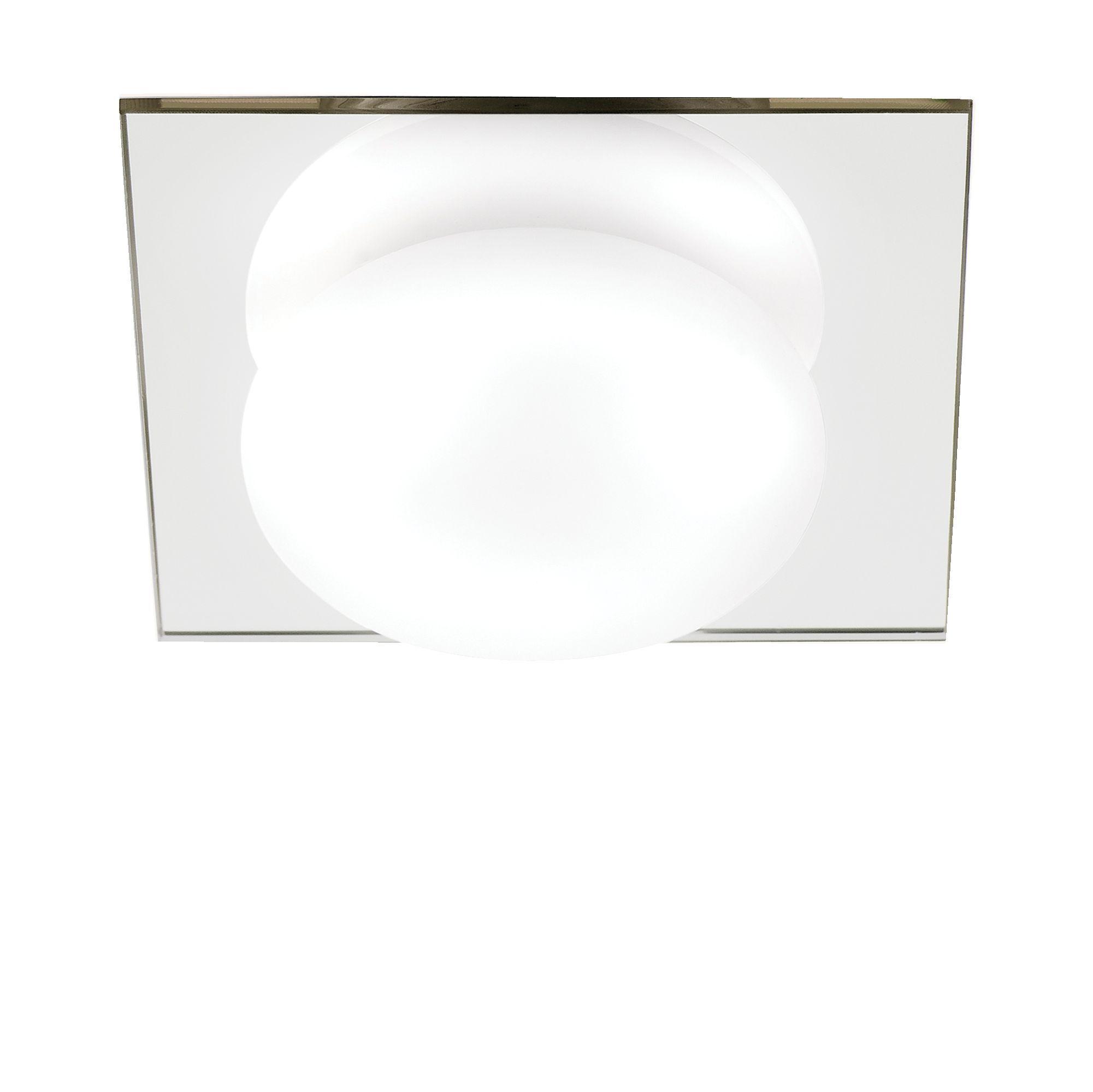 Revel clear mirrored effect bathroom flush light diy and crafts lights by bq g9 halogen bathroom flush light 25 w rooms diy at bq aloadofball Image collections