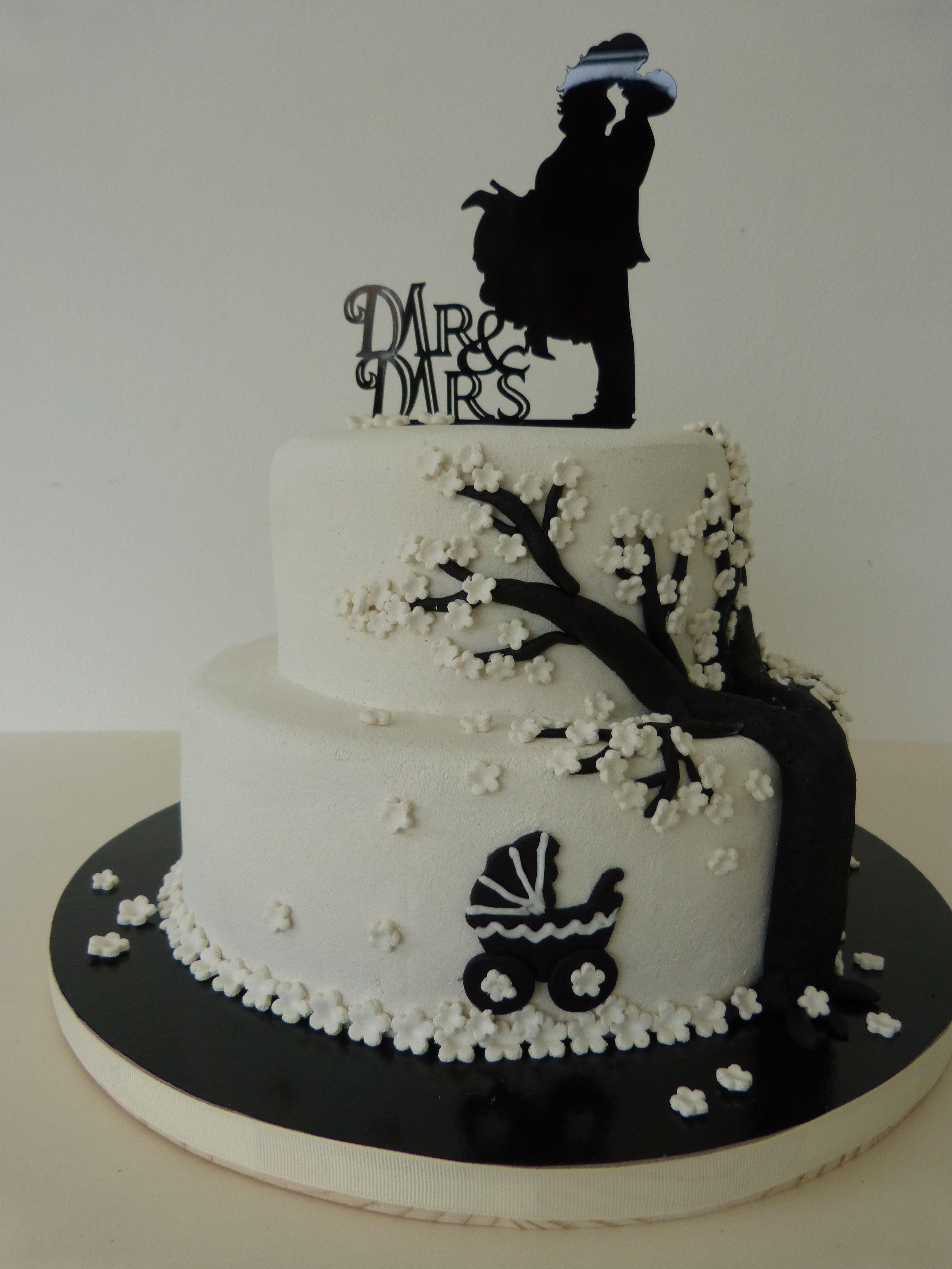 Hochzeitstorte Wedding Cake Black White Schwarz Weiss Hochzeit