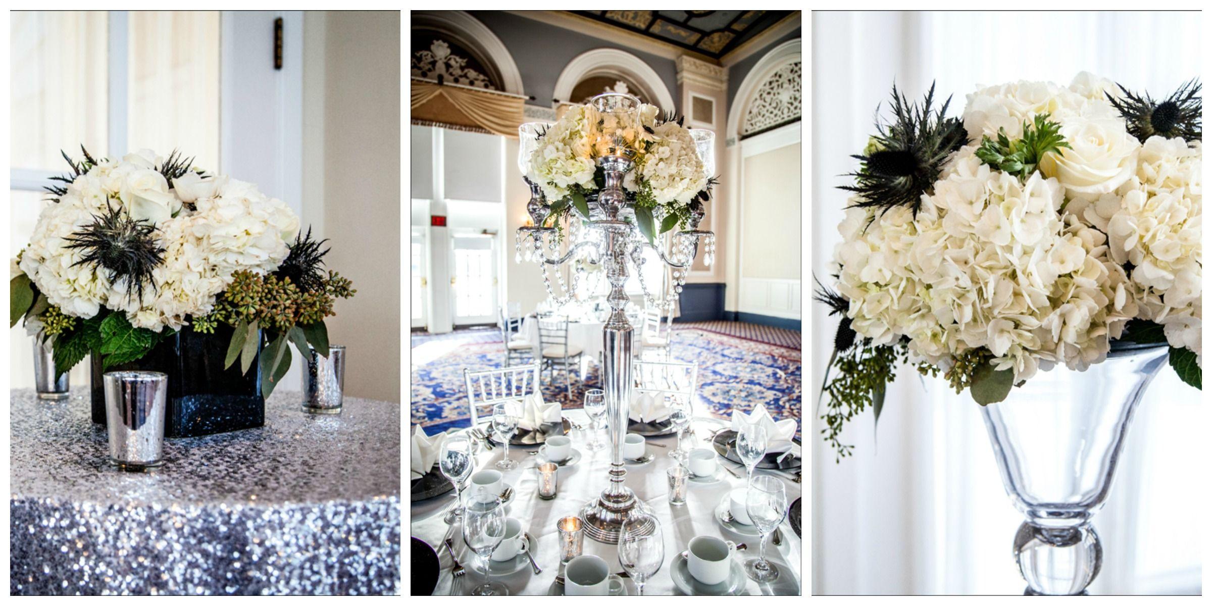 love this silver, white and black decor | Wedding Ideas | Pinterest ...
